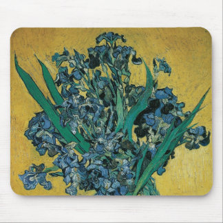 Vase with Irises by Vincent van Gogh, Vintage Art Mouse Pad