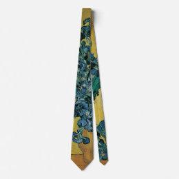 Vase with Irises by Vincent van Gogh, Vintage Art Tie