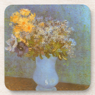 Vase with Lilacs and Daisies by Vincent van Gogh Beverage Coaster