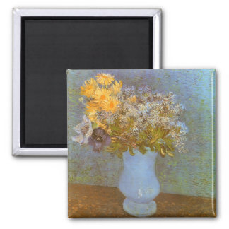 Vase with Lilacs and Daisies by Vincent van Gogh Magnet