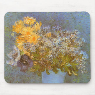 Vase with Lilacs and Daisies by Vincent van Gogh Mouse Pad