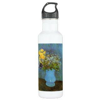 Vase with Lilacs Daisies and Anemones by Van Gogh Stainless Steel Water Bottle