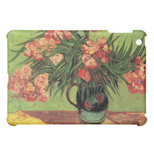 Vase with Oleanders and Books by van Gogh iPad Mini Covers