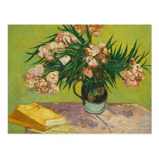 Vase with Oleanders and Books, Vincent Van Gogh Postcard