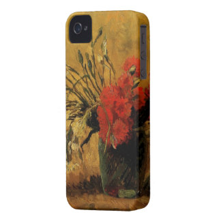 Vase with Red and White Carnations iPhone 4 Cases