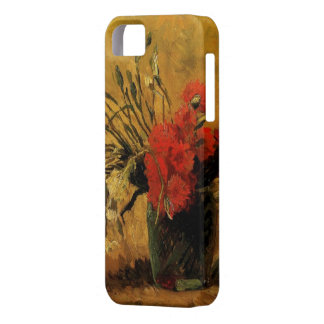 Vase with Red and White Carnations iPhone SE/5/5s Case