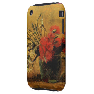 Vase with Red and White Carnations Tough iPhone 3 Case