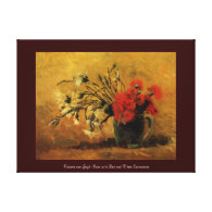 vase with red and white carnations, van Gogh Gallery Wrap Canvas