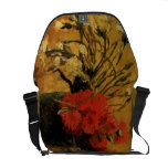 vase with red and white carnations, van Gogh Messenger Bag