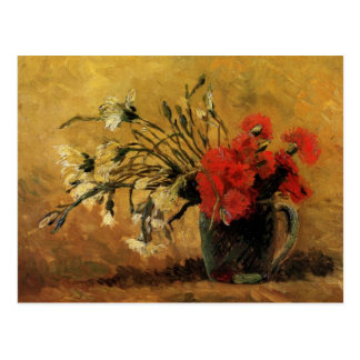Vase with Red and White Carnations - van Gogh Postcard