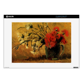 Vase with Red and White Carnations, Van Gogh Skin For Laptop