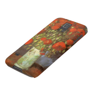 Vase with Red Poppies by Van Gogh, Vintage Flowers Cases For Galaxy S5
