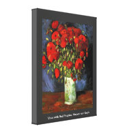 Vase with Red Poppies by Vincent van Gogh. Canvas Prints