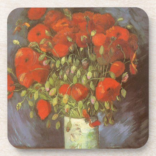 Vase with Red Poppies by Vincent van Gogh Coaster