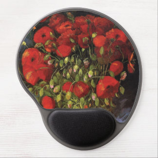 Vase with Red Poppies by Vincent van Gogh Gel Mouse Pad