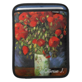Vase with Red Poppies by Vincent van Gogh. iPad Sleeve