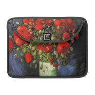 Vase with Red Poppies by Vincent van Gogh. MacBook Pro Sleeve