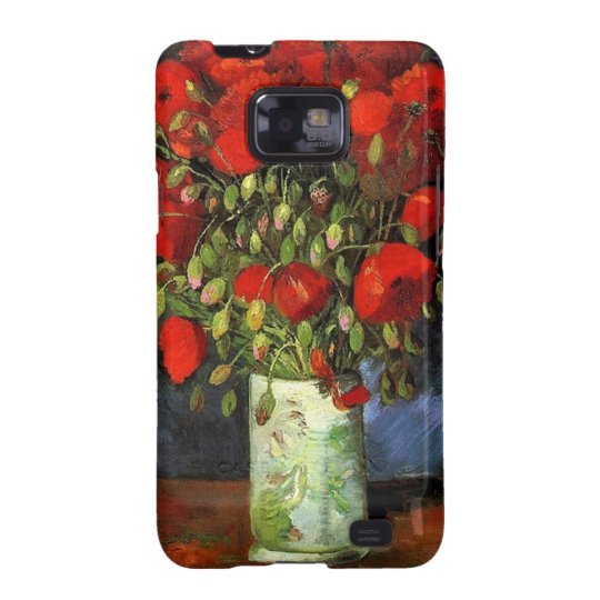 Vase with Red Poppies by Vincent van Gogh. Samsung Galaxy SII Cover
