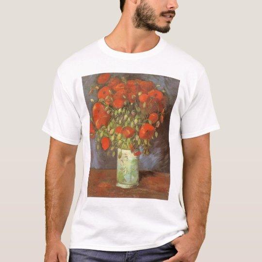 Vase with Red Poppies by Vincent van Gogh T-Shirt