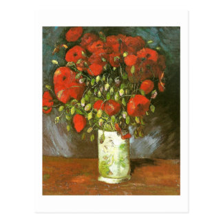 Vase With Red Poppies (F279)Van Gogh Fine Art Postcard