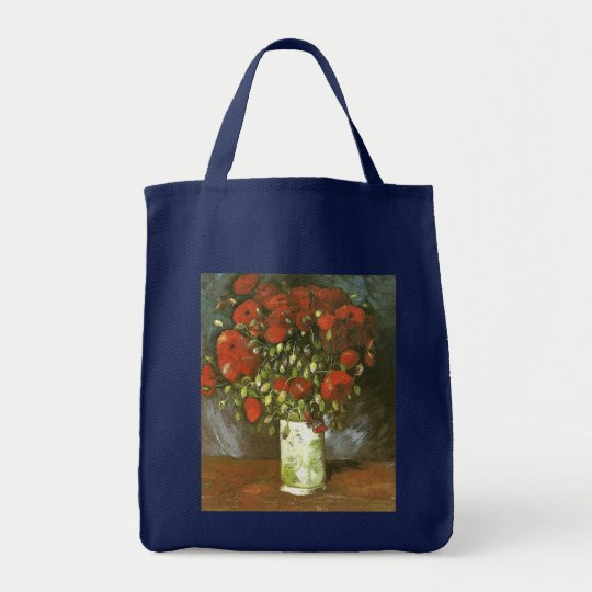 Vase with Red Poppies Van Gogh Fine Art Tote Bag