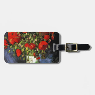 Vase with Red Poppies Vincent van Gogh Luggage Tag