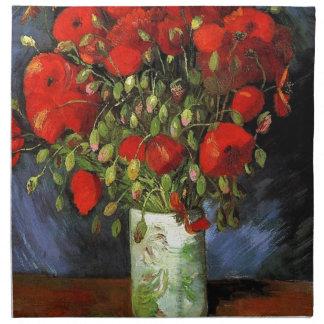 Vase with Red Poppies Vincent van Gogh Napkin