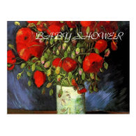 Vase with Red Poppies Vincent van Gogh. Post Cards