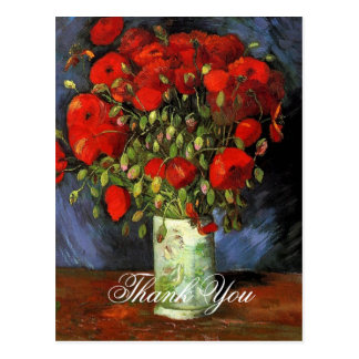 Vase with Red Poppies Vincent van Gogh. Postcards