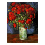 Vase with Red Poppies | Vincent Van Gogh Poster