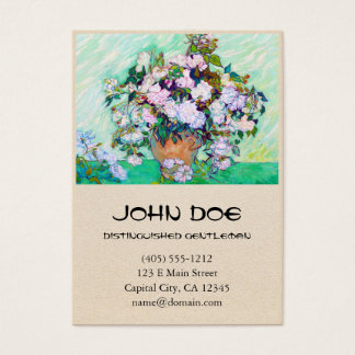 Vase with Roses by Vincent Van Gogh Business Card