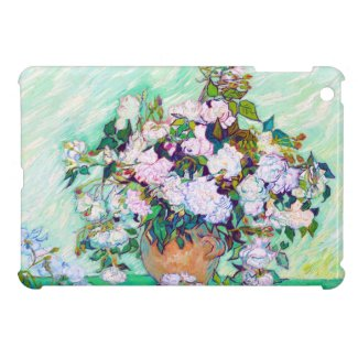 Vase with Roses by Vincent Van Gogh iPad Mini Covers