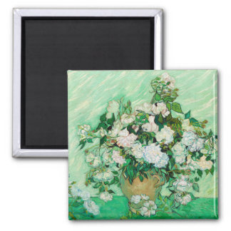 Vase with Roses by Vincent Van Gogh Magnet