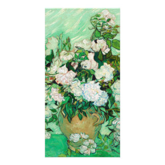 Vase with Roses by Vincent Van Gogh Photo Greeting Card