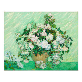 Vase with Roses by Vincent Van Gogh Photograph