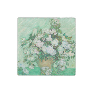 Vase with Roses by Vincent Van Gogh Stone Magnet