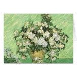 Vase with Roses - Van Gogh Greeting Card