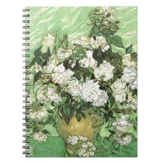Vase with Roses - Van Gogh Spiral Notebook