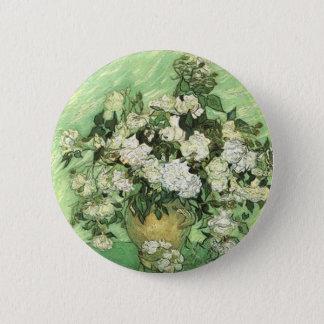 Vase with Roses, Vincent van Gogh 1890 Button