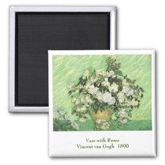 Vase with Roses, Vincent van Gogh 1890 Magnet