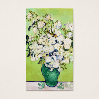 Vase with Roses Vincent Van Gogh painting ART Business Card