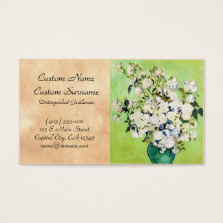 Vase with Roses Vincent Van Gogh painting Business Card