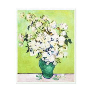 Vase with Roses Vincent Van Gogh painting Stretched Canvas Prints
