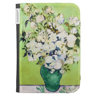Vase with Roses Vincent Van Gogh painting Kindle 3 Case