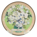 Vase with Roses Vincent Van Gogh painting Dinner Plate