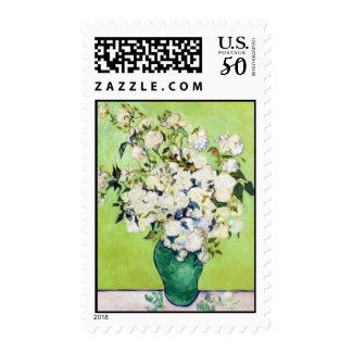 Vase with Roses Vincent Van Gogh painting Postage