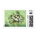 Vase with Roses Vincent van Gogh Postage Stamp