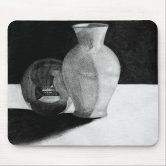 Vase with Sphere Mouse Pad