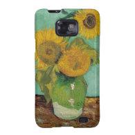 Vase with three sunflowers, Vincent van Gogh Samsung Galaxy SII Cases
