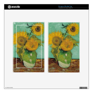 Vase with three sunflowers, Vincent van Gogh Kindle Fire Skin